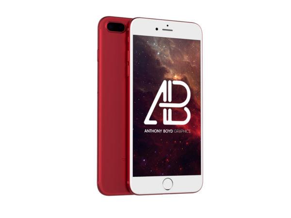 Red iPhone 7 Plus Mockup  mockup, free mockup, psd mockup, mockup psd, free psd, psd, download mockup, mockup download, photoshop mockup, mock-up, free mock-up, mock-up psd, mockup template, free mockup psd, presentation mockup, branding mockup, free psd mockup