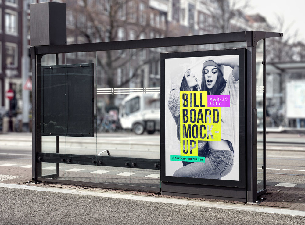 Bus Stop Advertisement Board Mockup  mockup, free mockup, psd mockup, mockup psd, free psd, psd, download mockup, mockup download, photoshop mockup, mock-up, free mock-up, mock-up psd, mockup template, free mockup psd, presentation mockup, branding mockup, free psd mockup