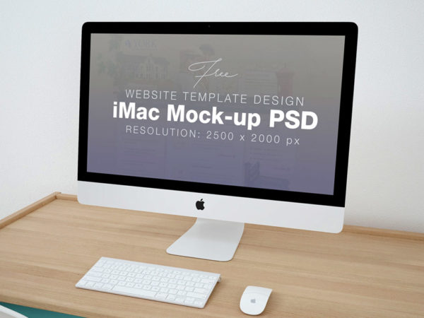 Clean iMac on Table Mockup  mockup, free mockup, psd mockup, mockup psd, free psd, psd, download mockup, mockup download, photoshop mockup, mock-up, free mock-up, mock-up psd, mockup template, free mockup psd, presentation mockup, branding mockup, free psd mockup
