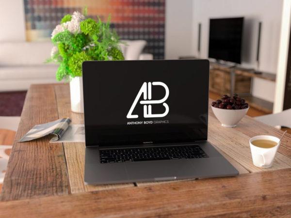 MacBook Pro in Living Room Mockup  mockup, free mockup, psd mockup, mockup psd, free psd, psd, download mockup, mockup download, photoshop mockup, mock-up, free mock-up, mock-up psd, mockup template, free mockup psd, presentation mockup, branding mockup, free psd mockup
