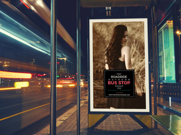 Roadside Bus Stop Billboard Mockup  mockup, free mockup, psd mockup, mockup psd, free psd, psd, download mockup, mockup download, photoshop mockup, mock-up, free mock-up, mock-up psd, mockup template, free mockup psd, presentation mockup, branding mockup, free psd mockup