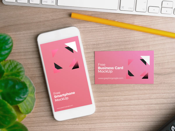 Smartphone with Business Card Mockup  mockup, free mockup, psd mockup, mockup psd, free psd, psd, download mockup, mockup download, photoshop mockup, mock-up, free mock-up, mock-up psd, mockup template, free mockup psd, presentation mockup, branding mockup, free psd mockup
