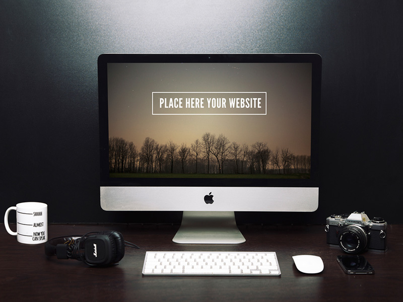 Freelancer Workspace with iMac Mockup  mockup, free mockup, psd mockup, mockup psd, free psd, psd, download mockup, mockup download, photoshop mockup, mock-up, free mock-up, mock-up psd, mockup template, free mockup psd, presentation mockup, branding mockup, free psd mockup