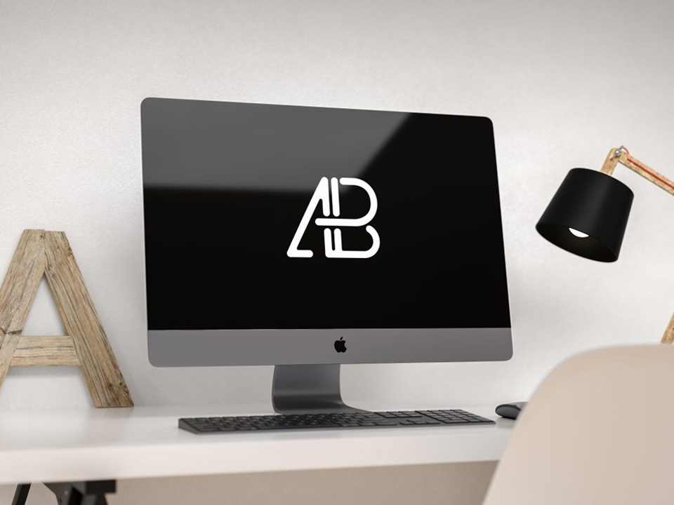 Apple iMac Pro on Desk Mockup  mockup, free mockup, psd mockup, mockup psd, free psd, psd, download mockup, mockup download, photoshop mockup, mock-up, free mock-up, mock-up psd, mockup template, free mockup psd, presentation mockup, branding mockup, free psd mockup