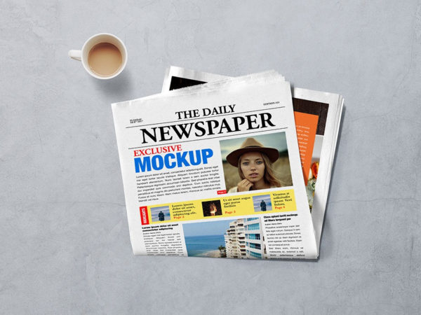 Realistic Newspaper Advertising Mockup  mockup, free mockup, psd mockup, mockup psd, free psd, psd, download mockup, mockup download, photoshop mockup, mock-up, free mock-up, mock-up psd, mockup template, free mockup psd, presentation mockup, branding mockup, free psd mockup