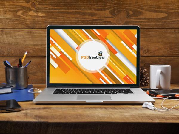 Macbook Pro Wooden Table Mockup  mockup, free mockup, psd mockup, mockup psd, free psd, psd, download mockup, mockup download, photoshop mockup, mock-up, free mock-up, mock-up psd, mockup template, free mockup psd, presentation mockup, branding mockup, free psd mockup