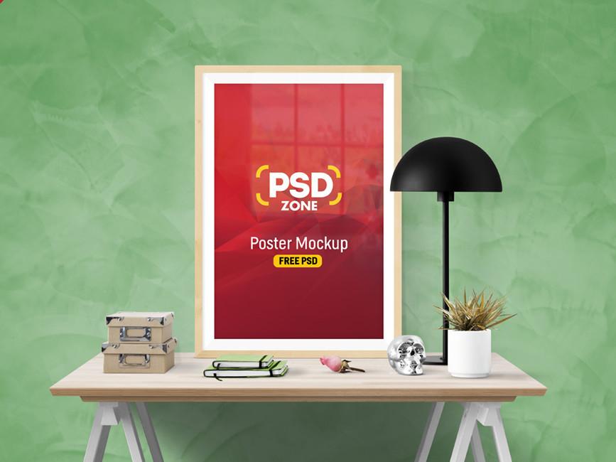 Poster Frame PSD Mockup  mockup, free mockup, psd mockup, mockup psd, free psd, psd, download mockup, mockup download, photoshop mockup, mock-up, free mock-up, mock-up psd, mockup template, free mockup psd, presentation mockup, branding mockup, free psd mockup