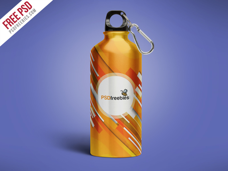 Aluminum Water Bottle Mockup