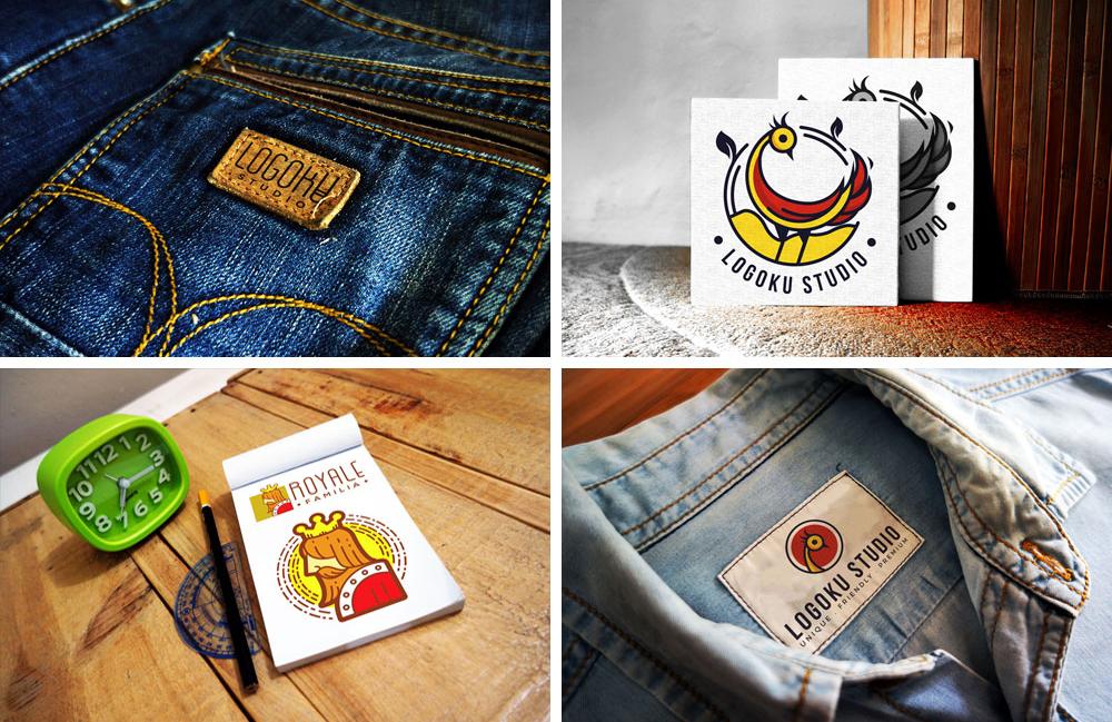 7 Free Photorealistic Branding Logo mockups