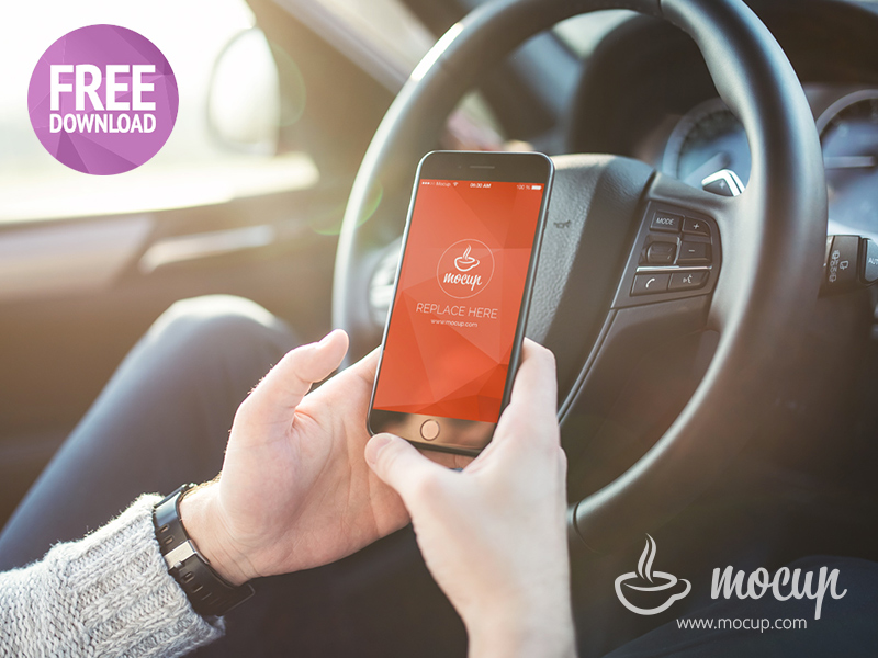 Free Mockup Driver iPhone 7 Plus