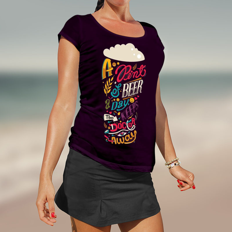 Girl T-Shirt Mockup PSD