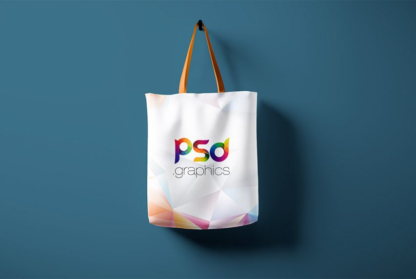 Hanging Canvas Tote Bag Mockup