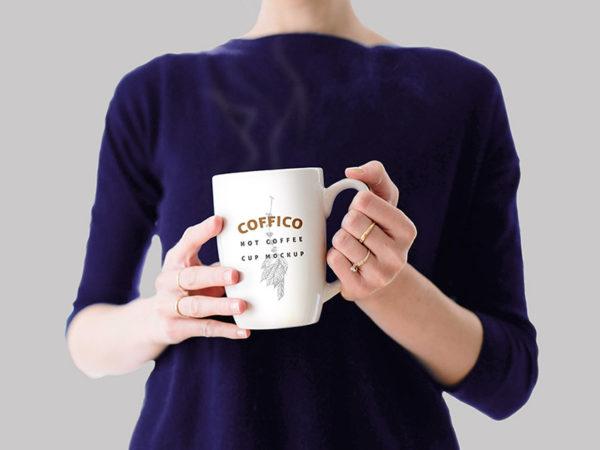 Lady Holding Coffee Mug Mockup  mockup, free mockup, psd mockup, mockup psd, free psd, psd, download mockup, mockup download, photoshop mockup, mock-up, free mock-up, mock-up psd, mockup template, free mockup psd, presentation mockup, branding mockup, free psd mockup