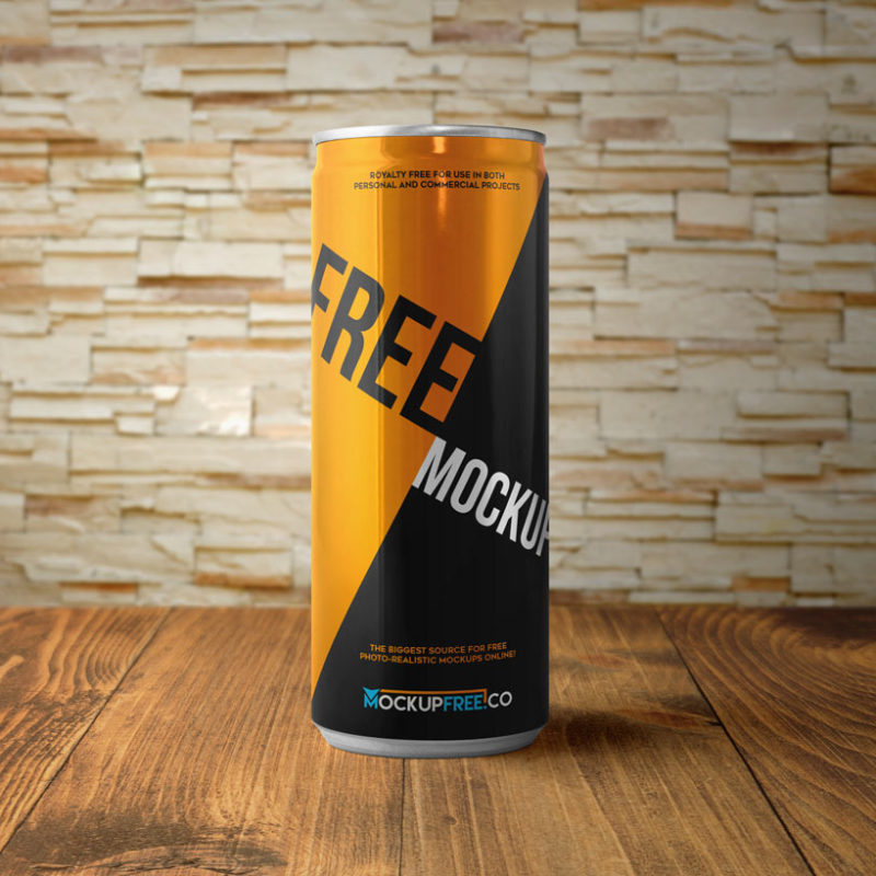Photorealistic Aluminum Soda Can Mockup