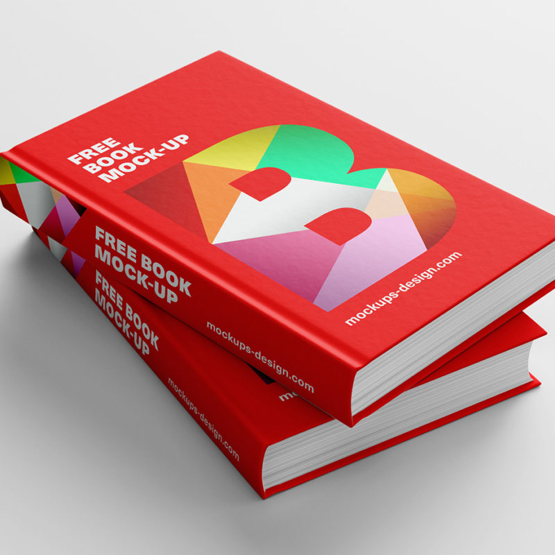 Realistic Hardcover Book Mockup