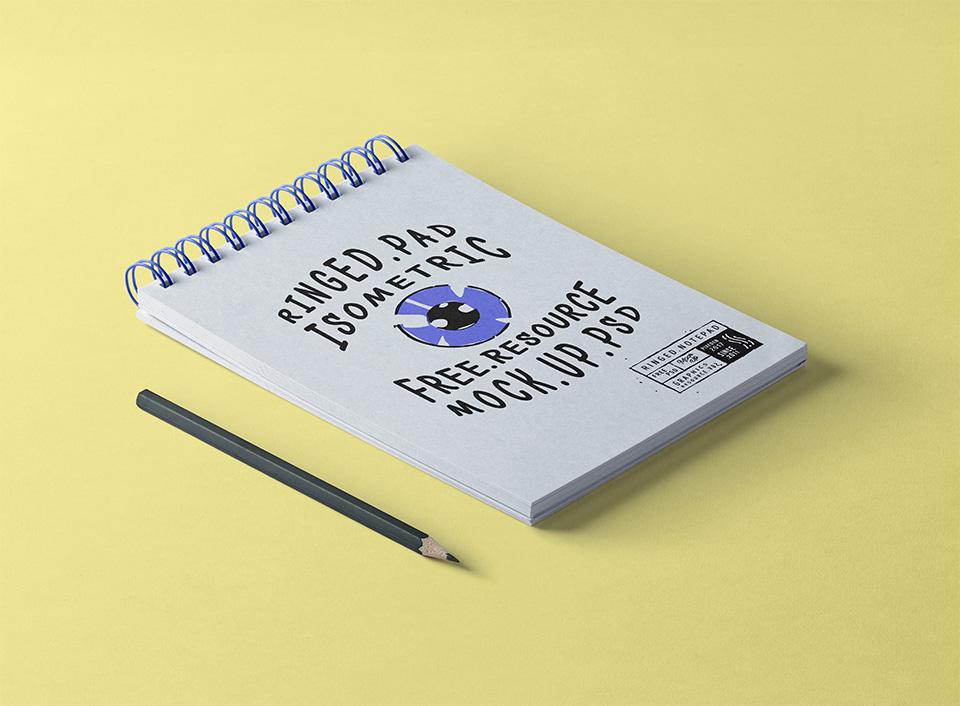 Spiral Mini Notepad Mockup