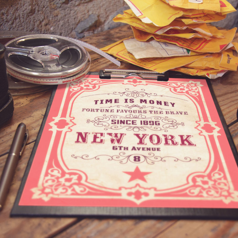 Vintage Style A4 Paper Clipboard Mockup