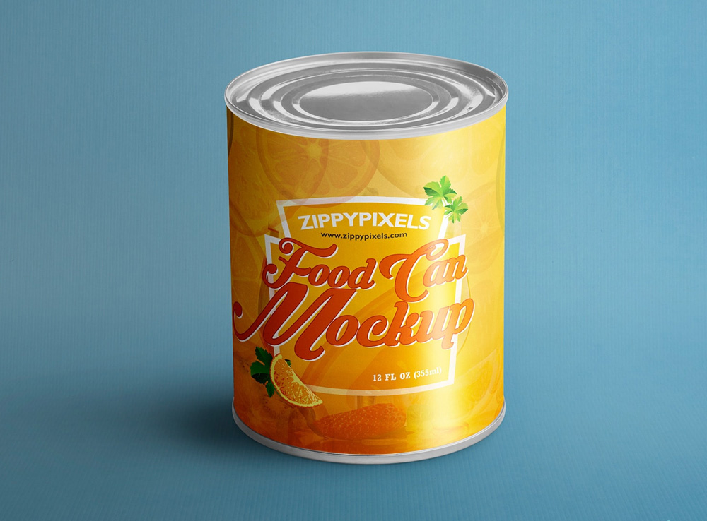 Aluminium Food Can Mock-Up