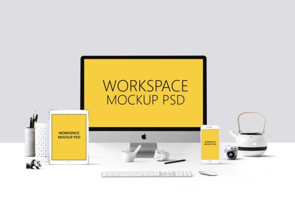 Apple Devices Workspace Mockup PSD  mockup, free mockup, psd mockup, mockup psd, free psd, psd, download mockup, mockup download, photoshop mockup, mock-up, free mock-up, mock-up psd, mockup template, free mockup psd, presentation mockup, branding mockup, free psd mockup