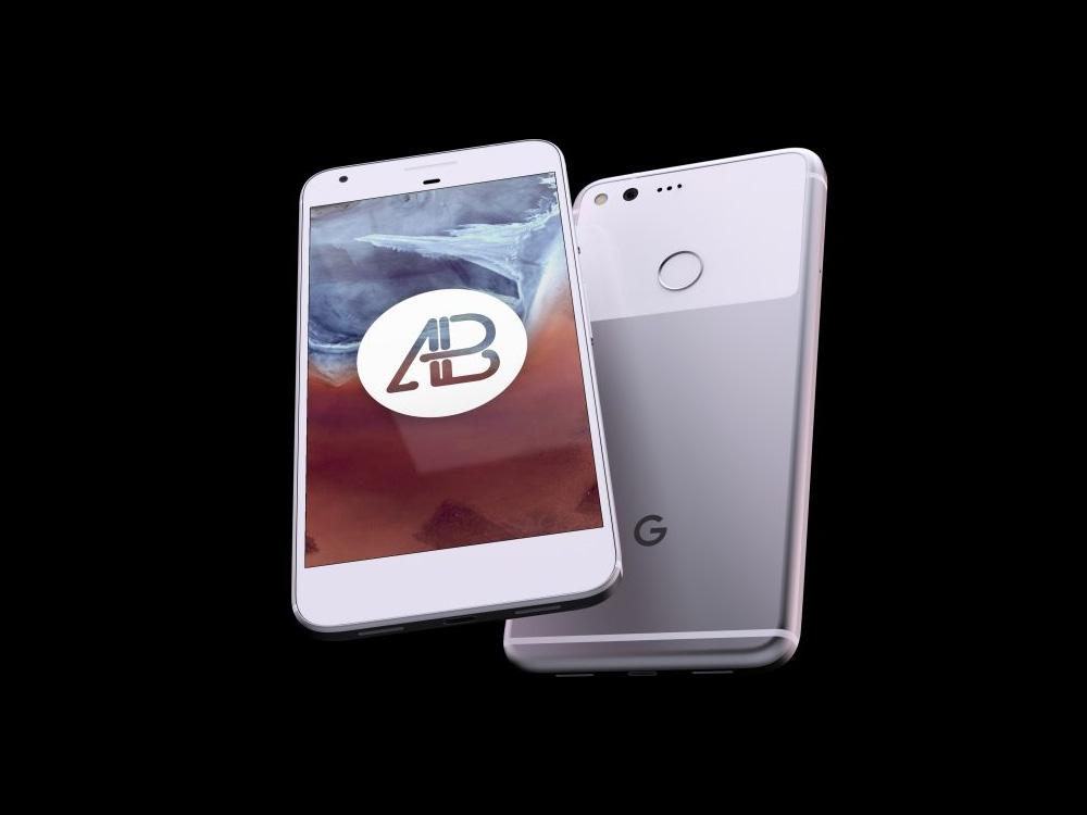Floating Google Pixel Mockup