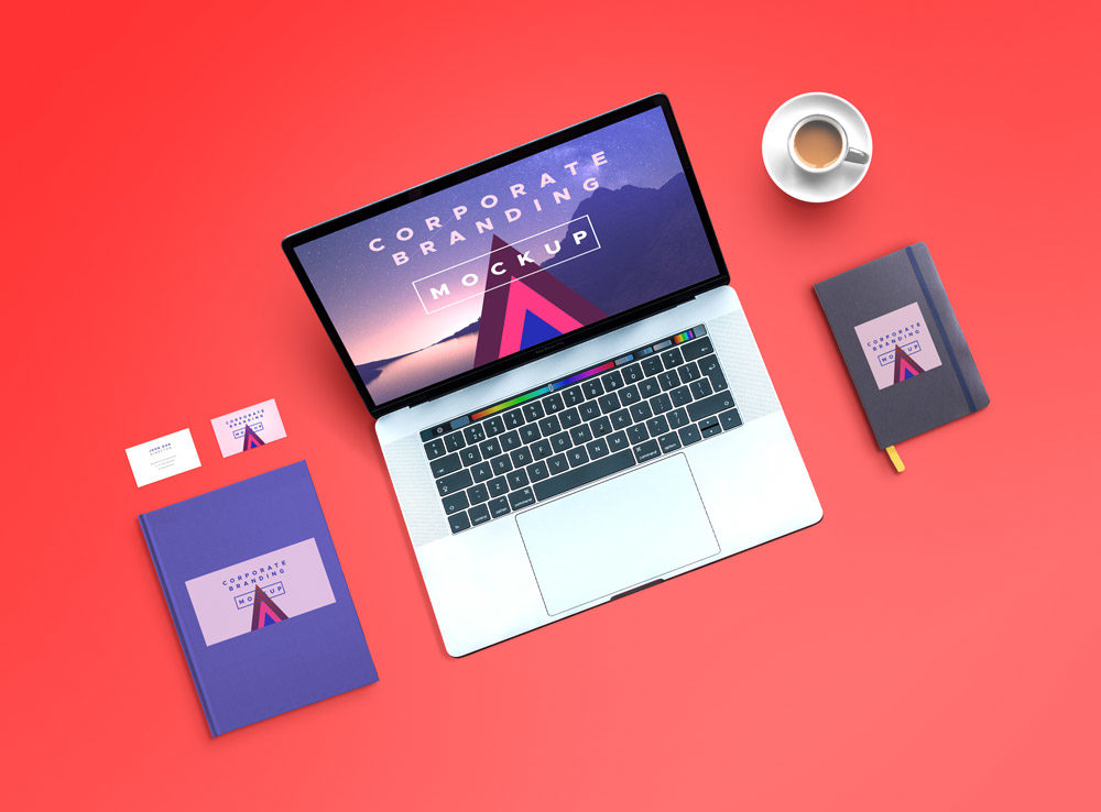 Macbook Pro And Corporate Branding Mockup Mockup Love