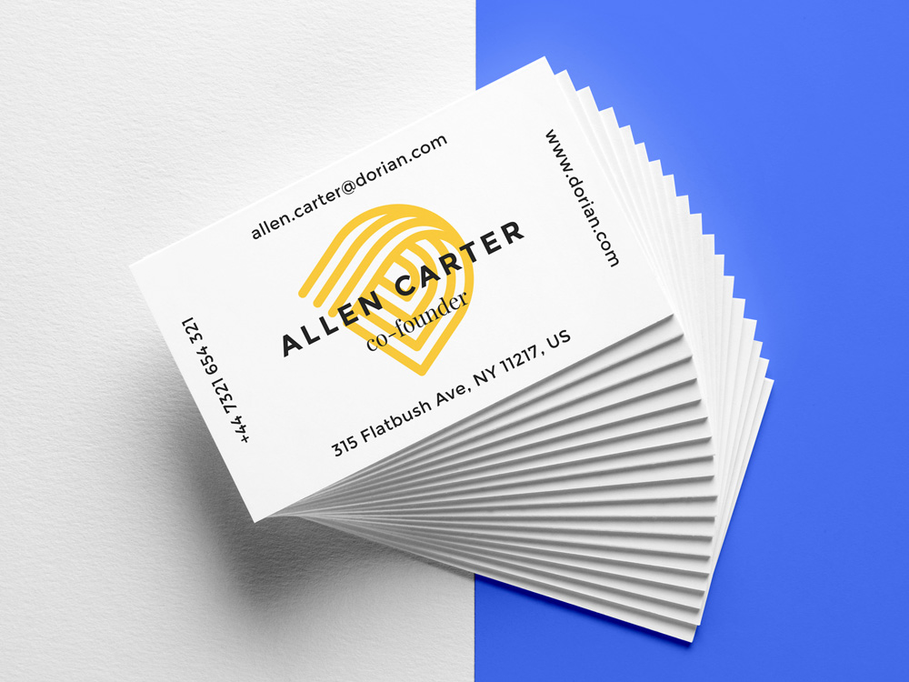 Realistic Business Cards PSD Mockup