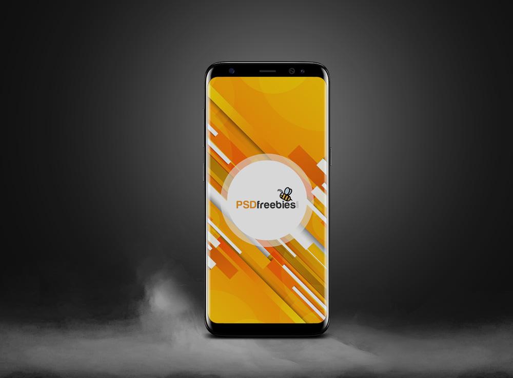 Realistic Galaxy S8 Mockup PSD