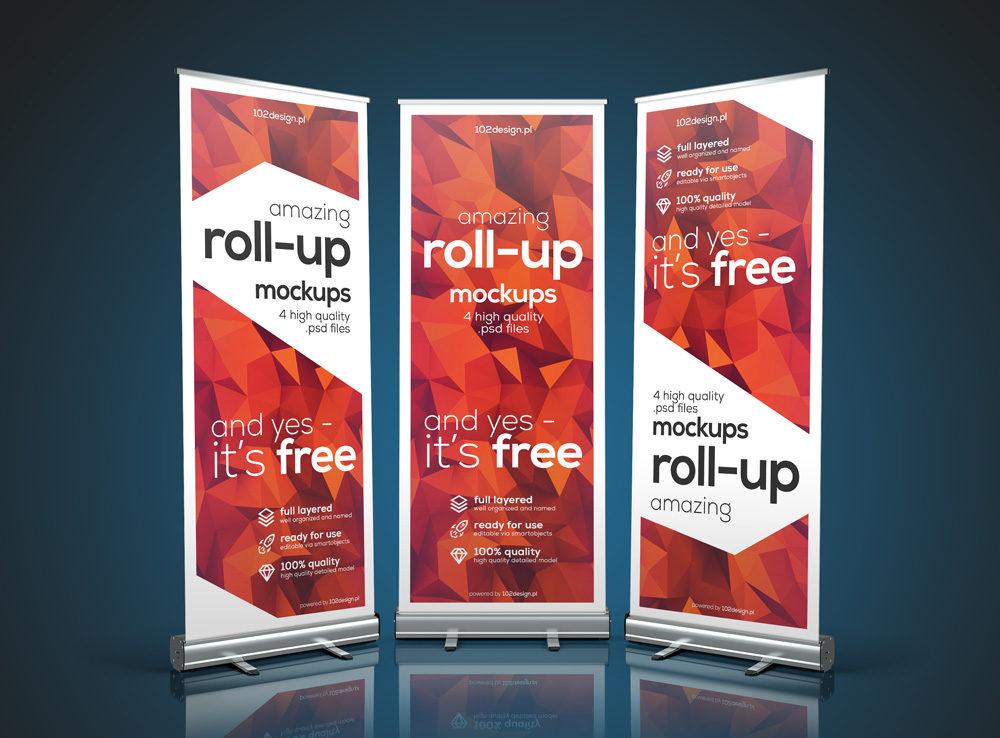 Realistic Roll-up Banner Mockup  mockup, free mockup, psd mockup, mockup psd, free psd, psd, download mockup, mockup download, photoshop mockup, mock-up, free mock-up, mock-up psd, mockup template, free mockup psd, presentation mockup, branding mockup, free psd mockup