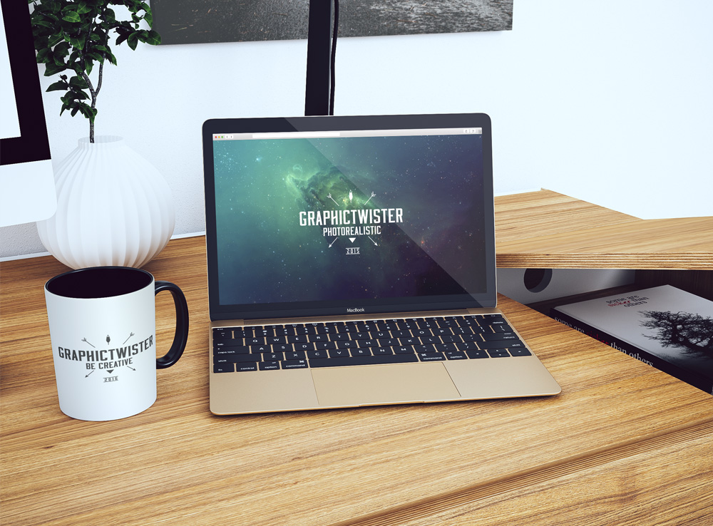 Retina MacBook Pro Workspace Mockup