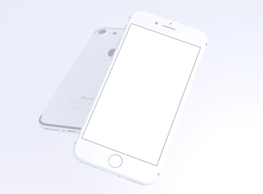 3D Rendered iPhone 7 Mockup Set