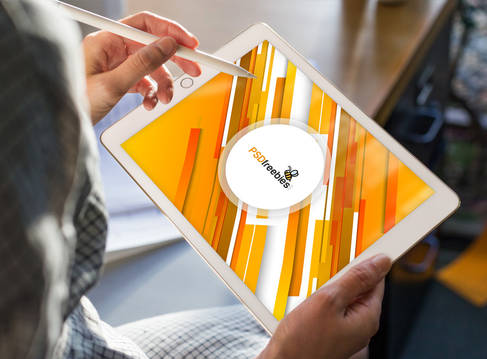 Apple iPad Pro in Hand Mockup