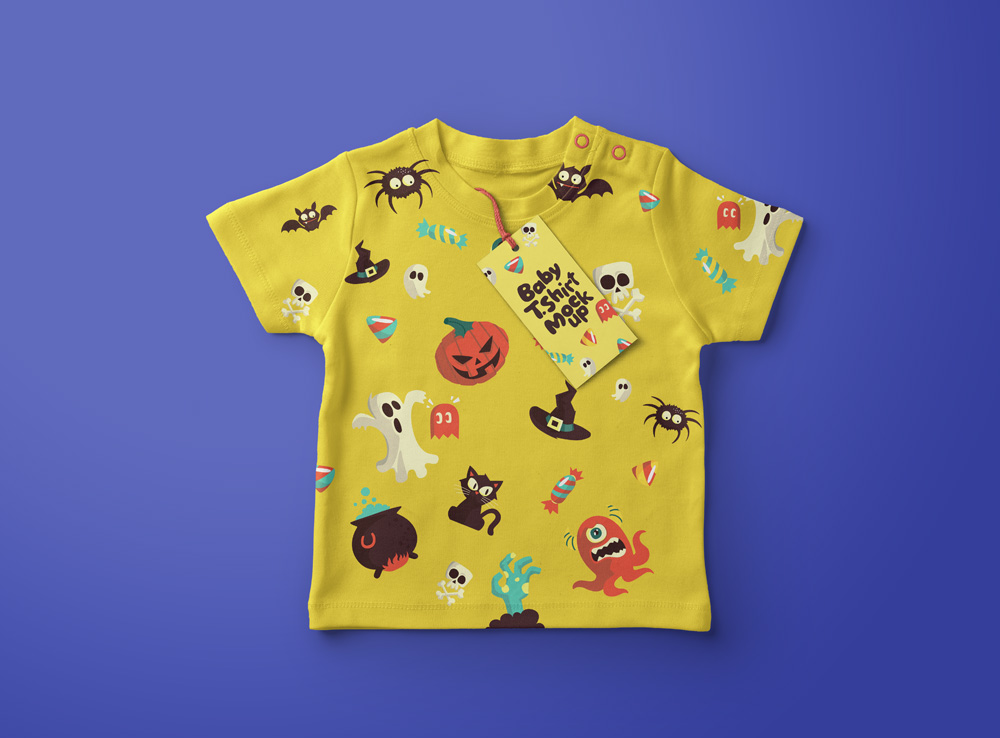 Baby Kids T-shirt Mockup