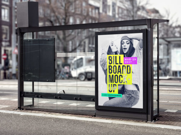 Bus Stop Advertisement Board Mockup  mockup, free mockup, psd mockup, mockup psd, free psd, psd, download mockup, mockup download, photoshop mockup, mock-up, free mock-up, mock-up psd, mockup template, free mockup psd, presentation mockup, branding mockup, free psd mockup
