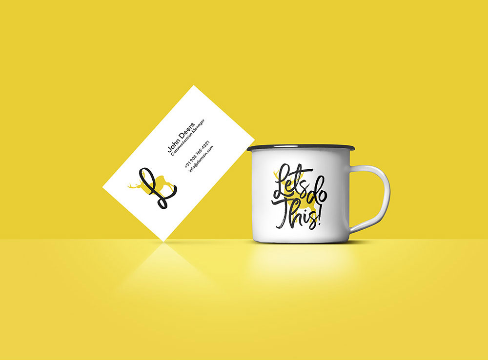 Business Card and Coffee Mug Mockup