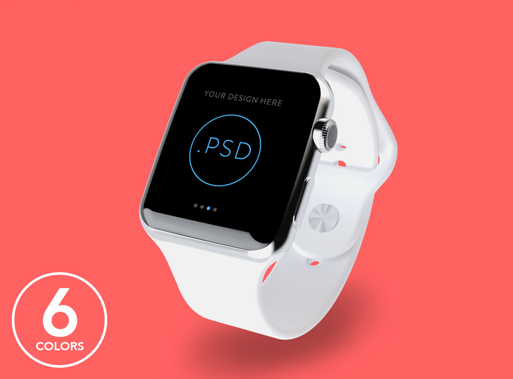 Floating Apple Watch Mockup
