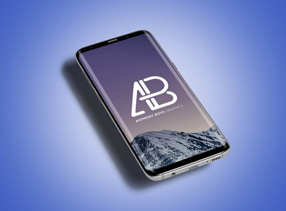 Floating Samsung Galaxy S8 Plus Mockup