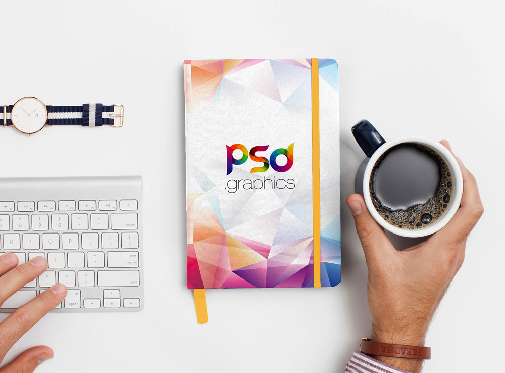 Notebook or Diary Front Cover Mockup