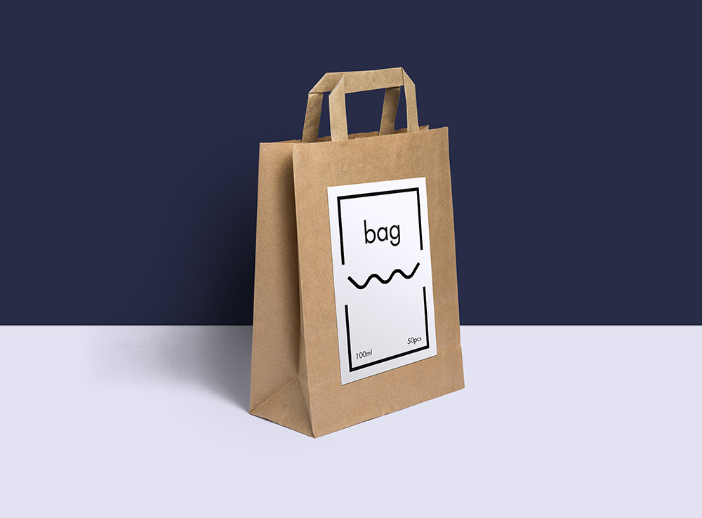Paper Bag Packaging PSD Mockup