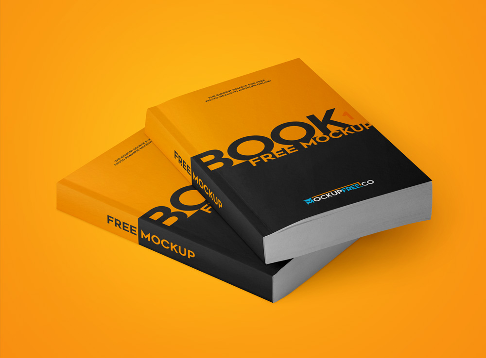 Simple Paperback Book Presentation Mockup