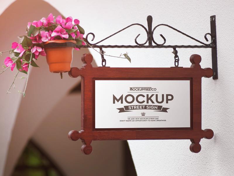 Classic Street Sign Mockup Set