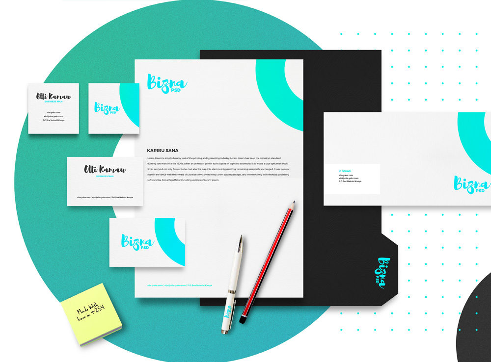 corporate branding stationary mockup set mockup love