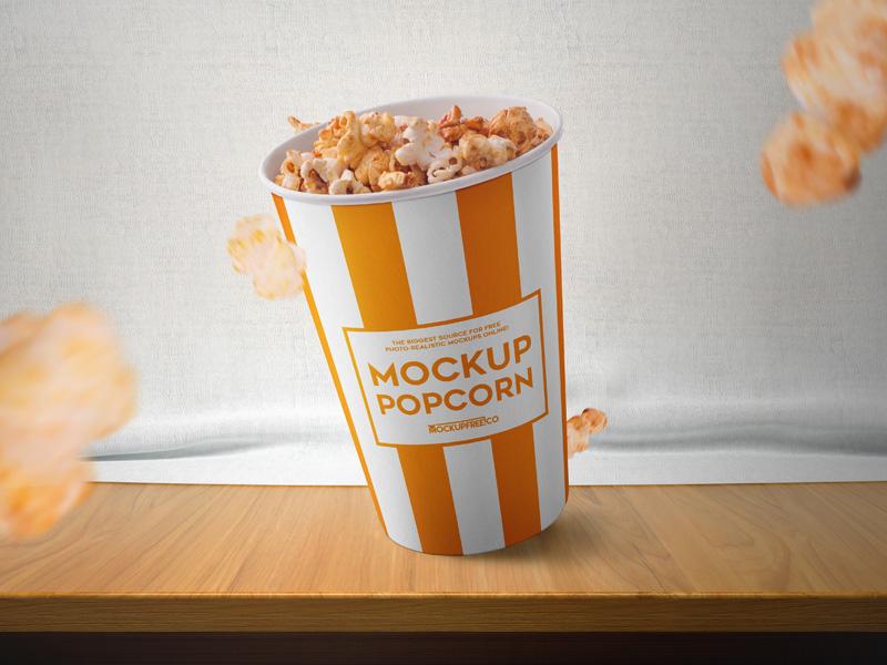 Medium Popcorn Bucket mockup