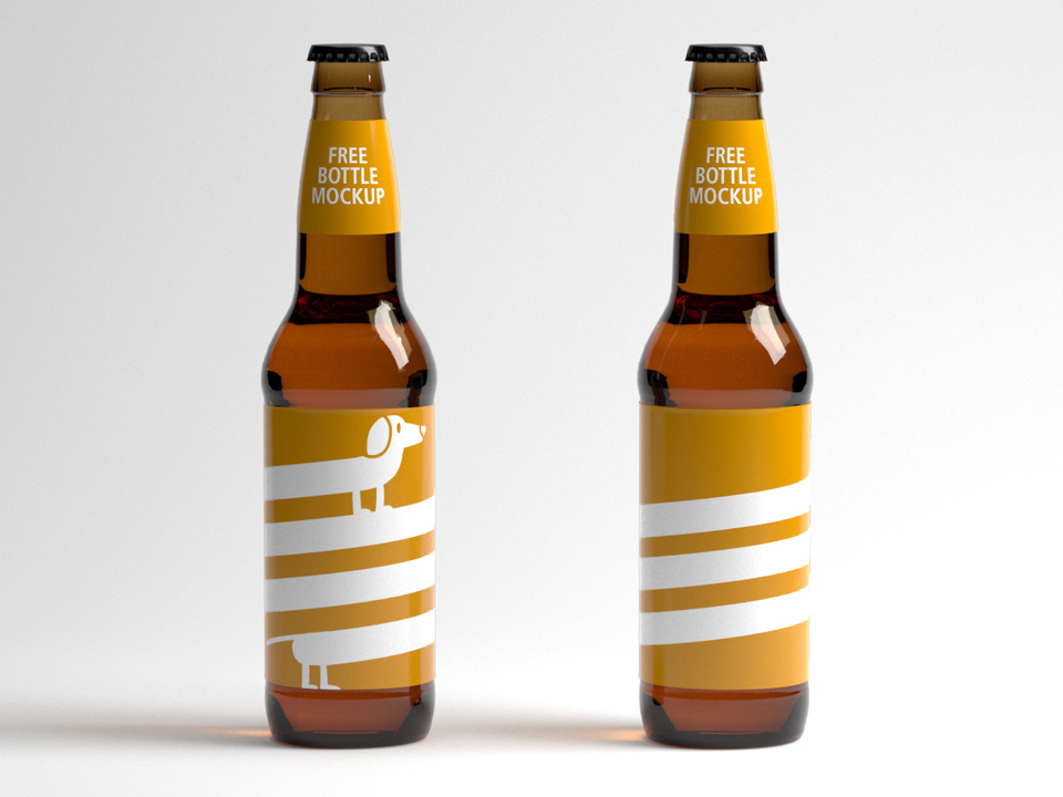 Beer Pint Bottle Mockup