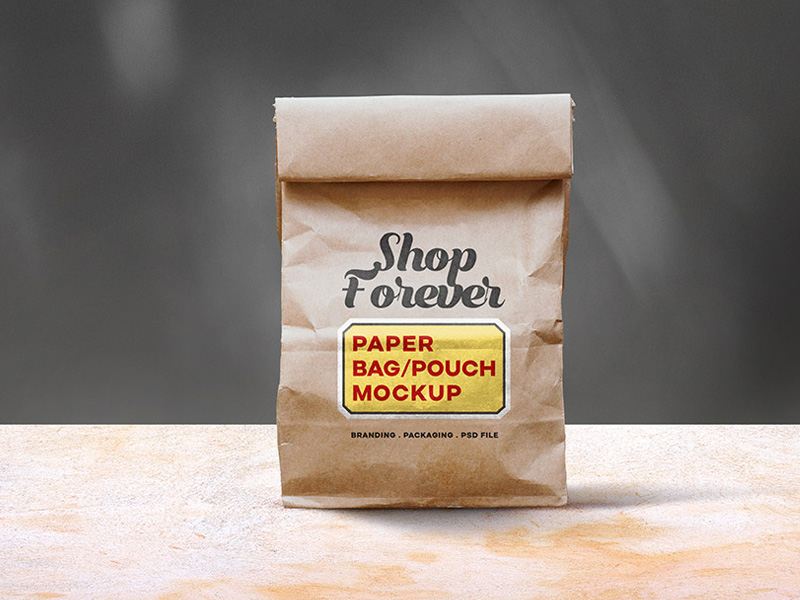 Brown Paper Bag PSD Mockup