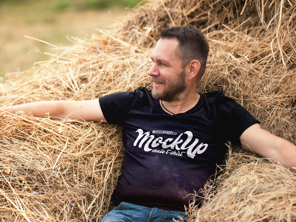 Male T-shirt Free PSD Mockup