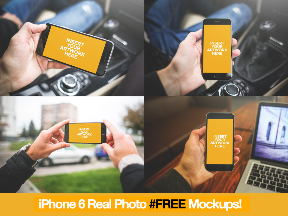 Photorealistic iPhone Mockup set