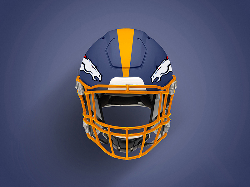 Sports Football Helmet Mockup