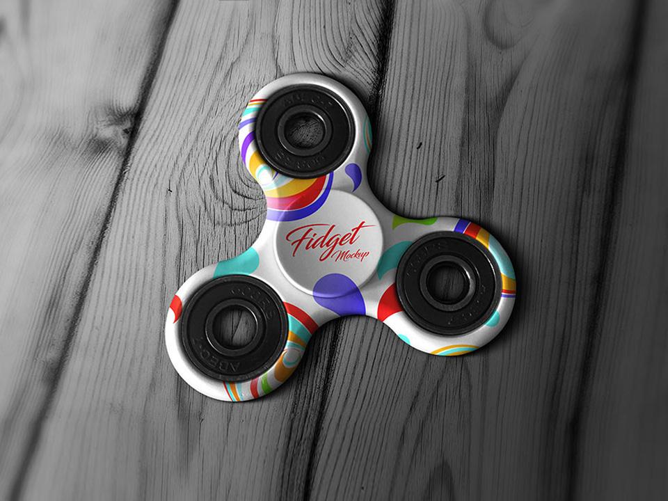 Tri-Fidget Spinner Hand Toy Mockup