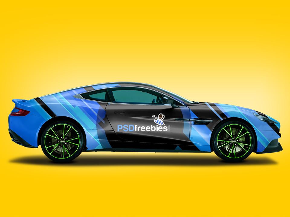 Aston Martin Car Branding Mockup
