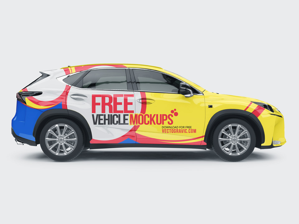 Design Your Own Car >> Branding on Vehicle Mockup Set - Mockup Love